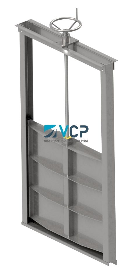 VAN CỬA PHAI  900x900 THÉP SS400 SƠN PHỦ COMPOSITE